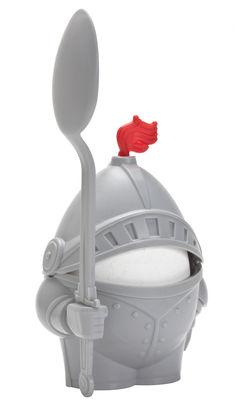 Coquetier Chevalier Arthur - Pa Design gris en matière plastique