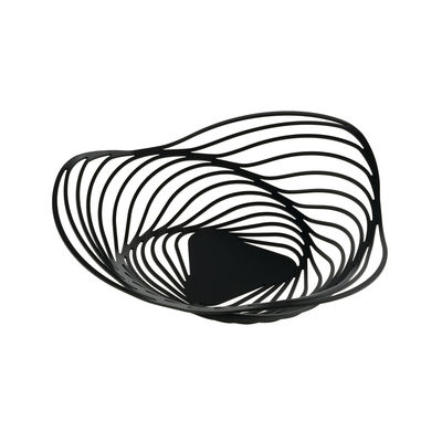 Corbeille Trinity / Ø 26 x H 7 cm - Alessi noir en métal