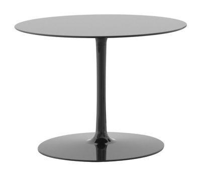 Möbel - Couchtische - Flow Couchtisch H 43 cm - MDF Italia - Glänzend schwarz - Cristalplant, lackiertes Aluminium