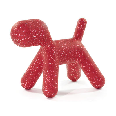 Furniture - Kids Furniture - Puppy Medium Decoration - /  L 56 cm - Limited Christmas 2020 edition by Magis Collection Me Too - Red / Mottled white - roto-moulded polyhene