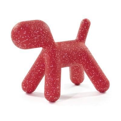Mobilier - Mobilier Kids - Décoration Puppy Medium /  L 56 cm - Edition limitée Noël 2020 - Magis Collection Me Too - Rouge / Moucheté blanc - Polyéthylène rotomoulé