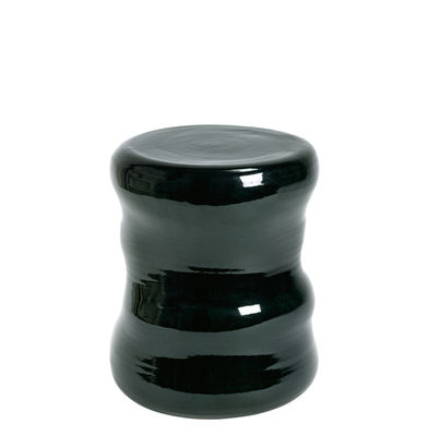 Furniture - Coffee Tables - Pawn Organic End table - / Ceramic by Serax - Dark green - Enamled terracotta