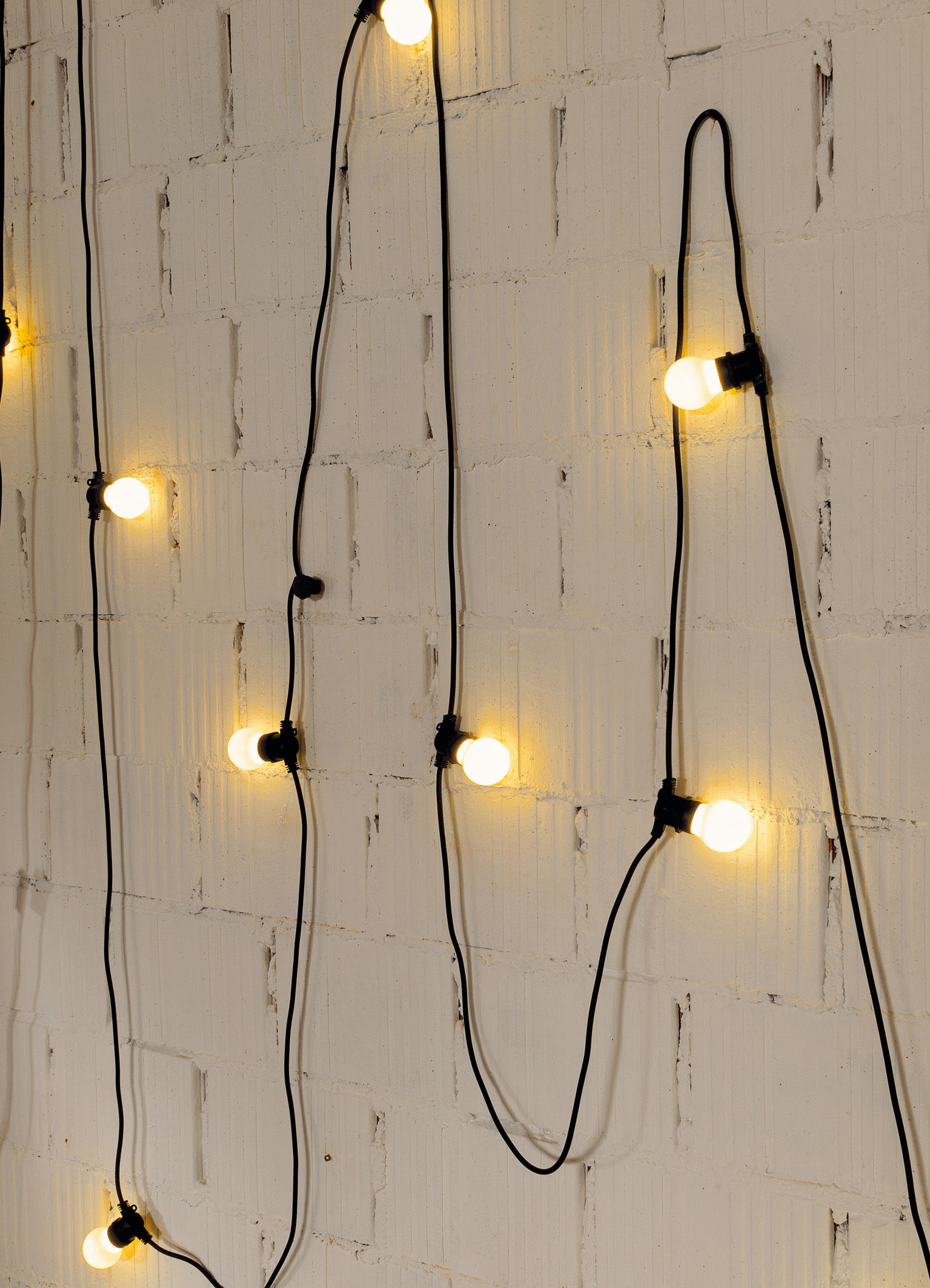 guirlande lumineuse bella vista led - pour l'extérieur câble noir