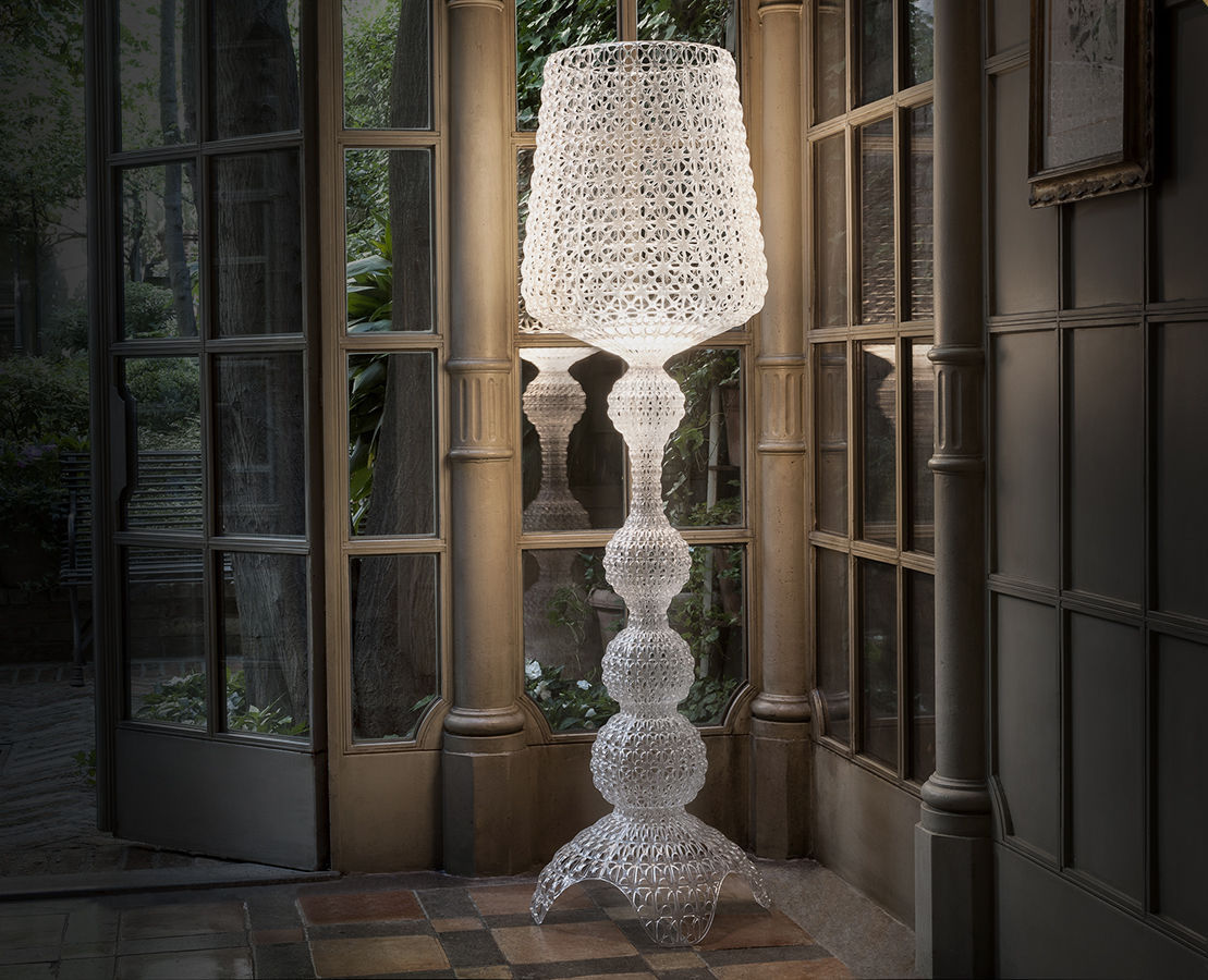 Lampadaire kabuki kartell interieur led cristal made in design