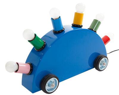 Luminaire - Lampes de table - Lampe de table Super / By Martine Bedin, 1981 - Memphis Milano - Bleu / Douilles multicolores - Caoutchouc, Fibre de verre, Métal laqué