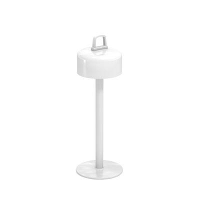 Leuchten - Tischleuchten - Luciole LED Lampe ohne Kabel / magnetischer Sockel - Emu - Weiß - ABS