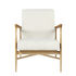 Floating Padded armchair - / Bouclé fabric - Oak structure by RED Edition