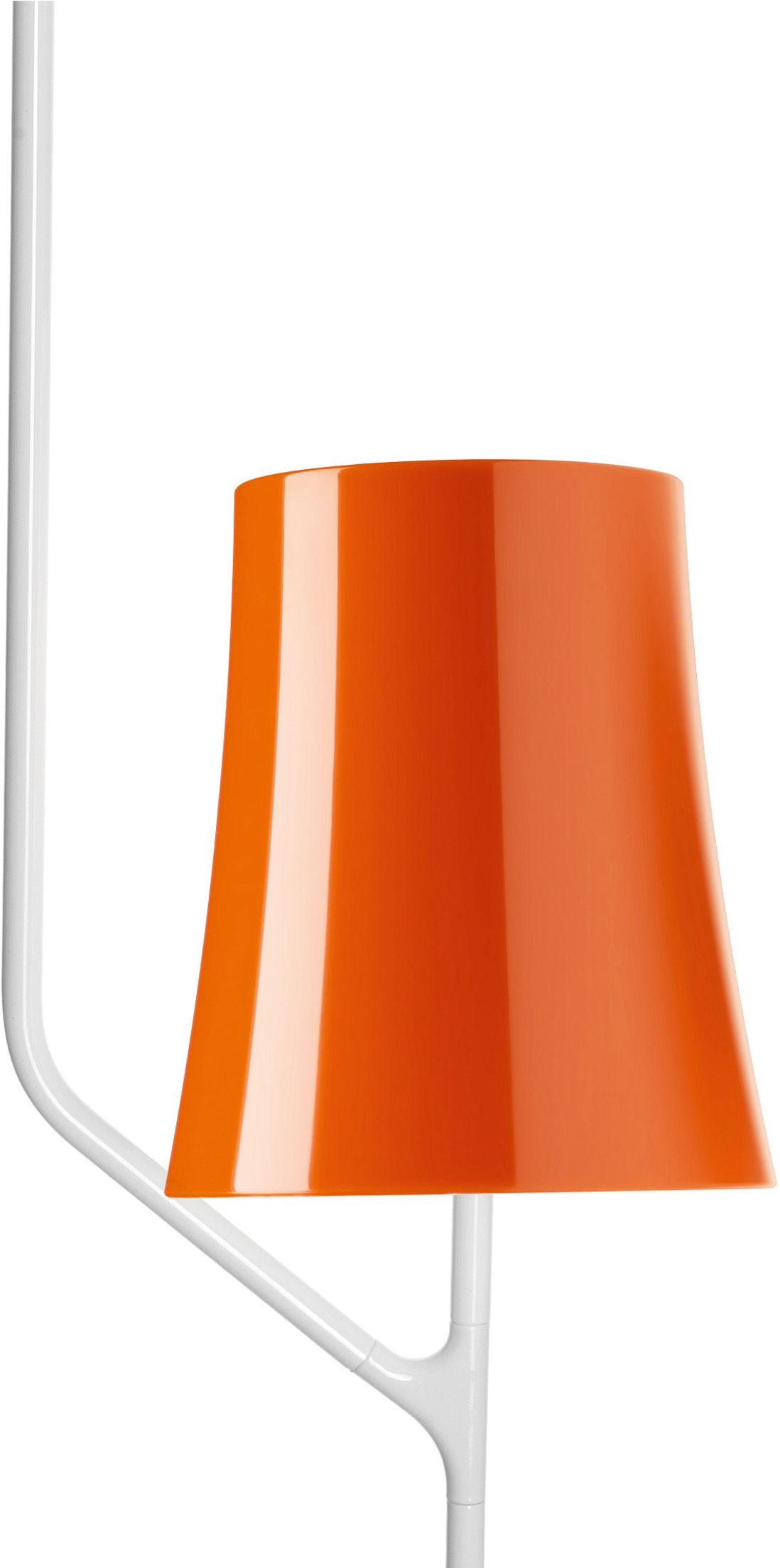 Leuchten - Pendelleuchten - Birdie Pendelleuchte 1 Arm - feste Höhe - Foscarini - 1 Arm - Orange - klarlackbeschichteter rostfreier Stahl, Polykarbonat