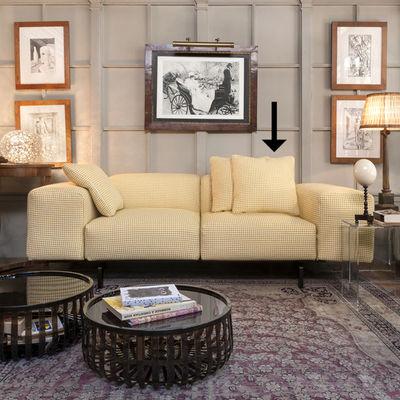 Accessoire canapé / Coussin pour canapé Largo -  48 x 48 cm - Kartell blanc,jaune en tissu