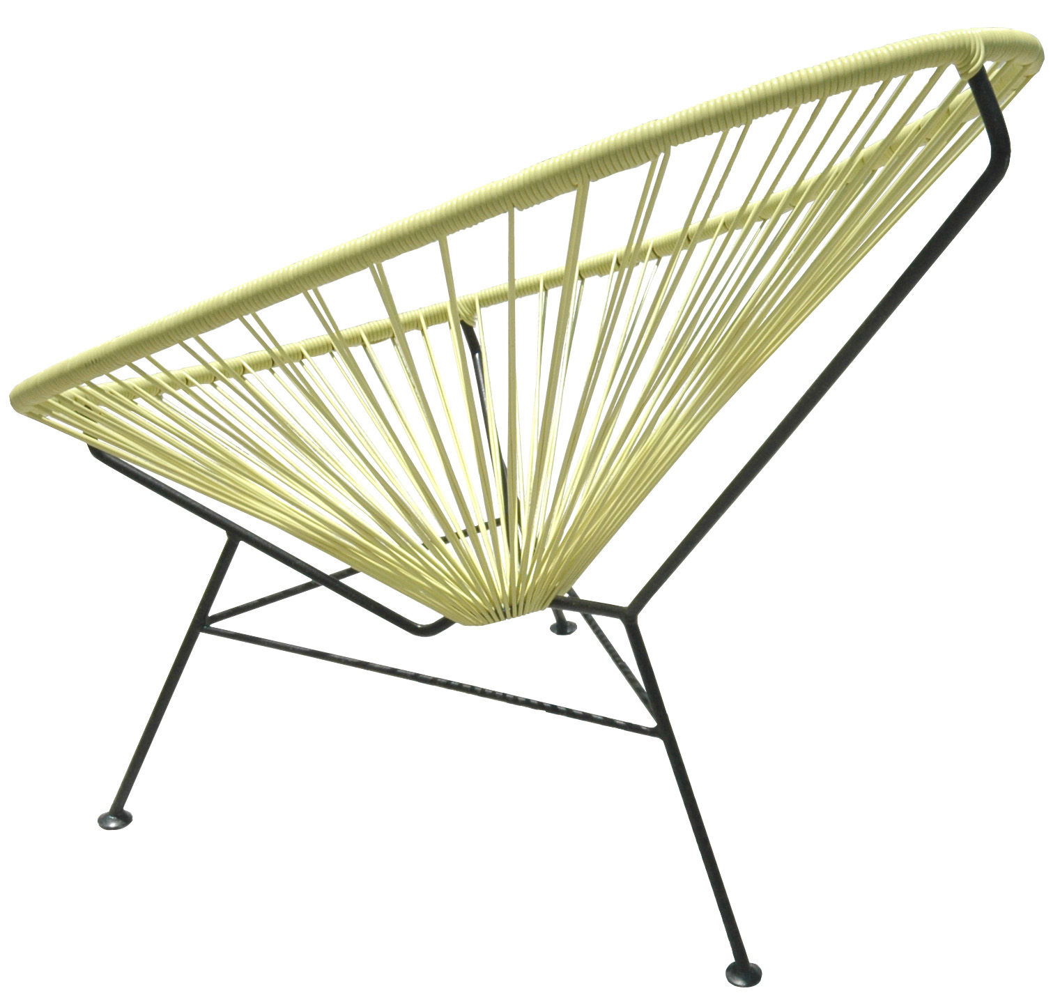Arredamento - Poltrone design  - Poltrona bassa Acapulco di OK Design pour Sentou Edition - Giallo - Acciaio laccato, Materiale plastico