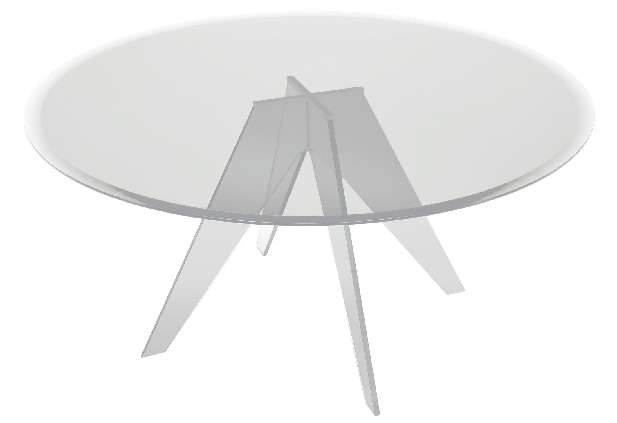 Furniture - Dining Tables - Alister Round table - Ø 130 cm by Glas Italia - Ø 130 cm - Transparent glass - Glass