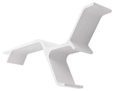 Arredamento - Scaffali e librerie - Scaffale Sinapsi - L 130 cm - Reversibile di Horm - Laccato bianco - Laminato di frassino