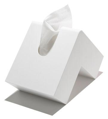 Interni - Bagno  - Scatola fazzoletti Folio di Pa Design - Bianco - Plastica