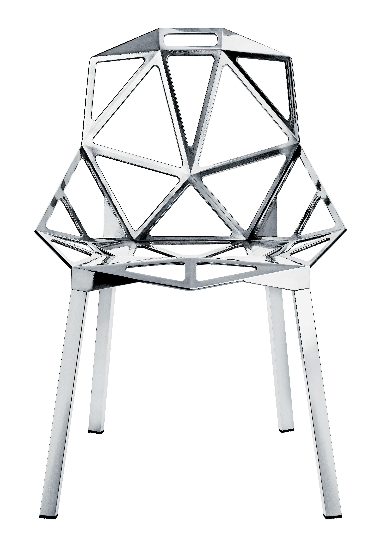 Arredamento - Sedie  - Sedia impilabile Chair One - Versione alluminio lucido di Magis - Alluminio lucido - Alluminio
