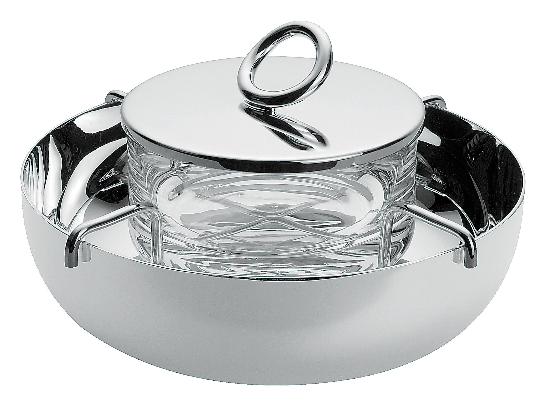 Tavola - Piatti da portata - Servizio di piatti Vertigo di Christofle - Argentato/Cristallo - Metallo argentato, Trasparente
