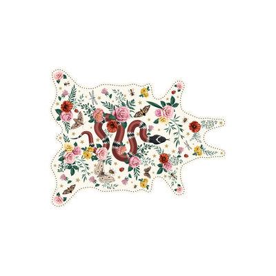 Arts de la table - Nappes, serviettes et sets - Set de table Serpent / 38 x 48 cm - Vinyle - PÔDEVACHE - Serpent / Blanc - Vinyle