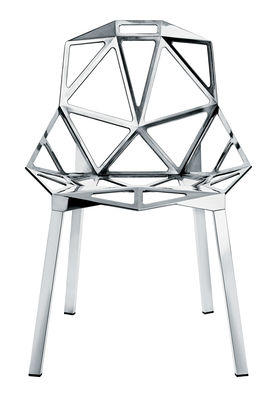 Furniture - Chairs - Chair One Stacking chair - Polished aluminium by Magis - Polished aluminium - Aluminium