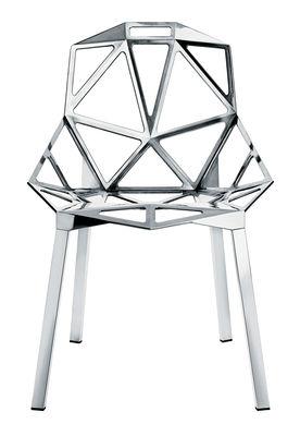 Möbel - Stühle  - Chair One Stapelbarer Stuhl Variante poliertes Aluminium - Magis - Poliertes Aluminium - Aluminium