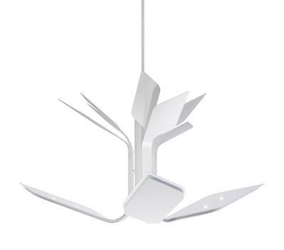 Suspension Foliage S3 / LED -  3 bras - Ø 110 cm - Lumen Center Italia blanc en métal