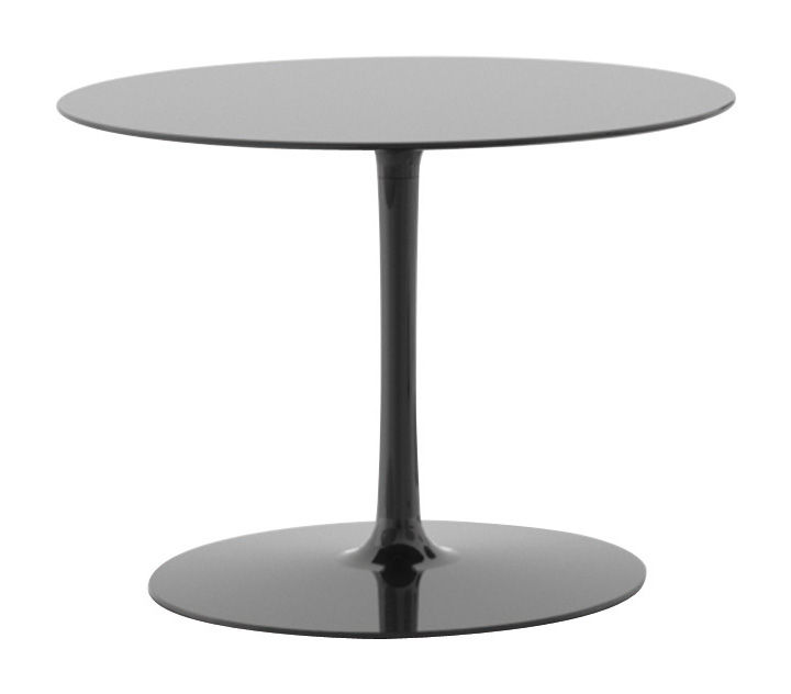 Mobilier - Tables basses - Table basse Flow H 43 cm - MDF Italia - Noir brillant - Aluminium laqué, Cristalplant