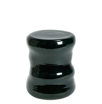 Mobilier - Tables basses - Table d'appoint Pawn Organic / Tabouret - Céramique - Serax - Vert foncé / Ø 35 x H 31 cm - Terre cuite émaillée