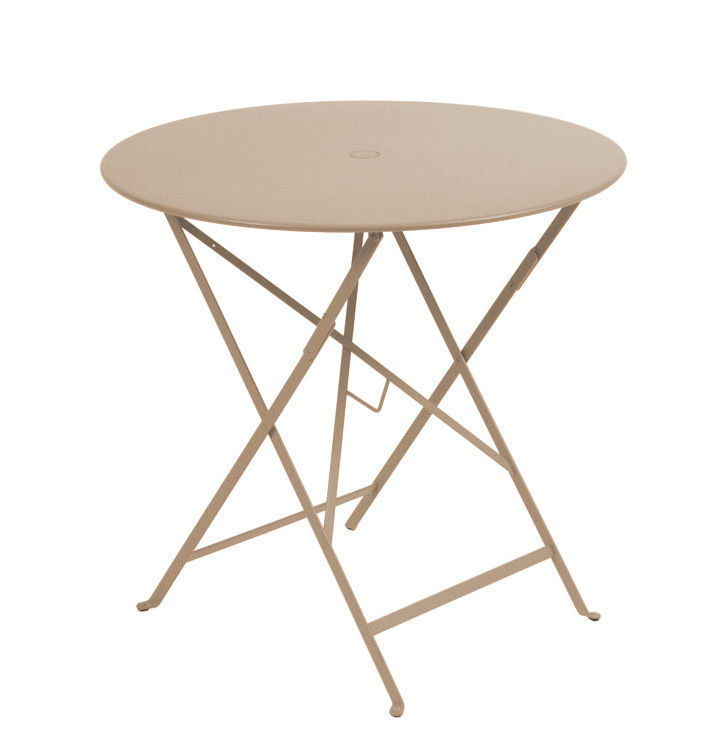 Table pliante Bistro Fermob - Muscade - h 74 x Ø 77 | Made In Design