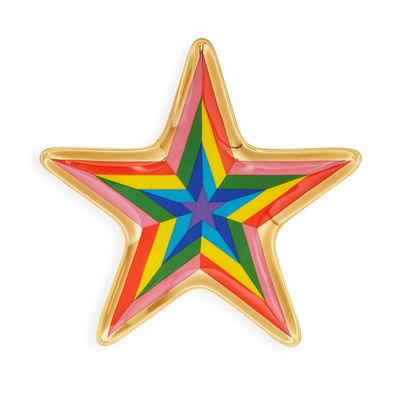 Tischkultur - Tabletts - Technicolor Star Trinket Tablett / Ablage - Porzellan & Gold - Jonathan Adler - Technicolor Star / mehrfarbig - Gold, Porzellan
