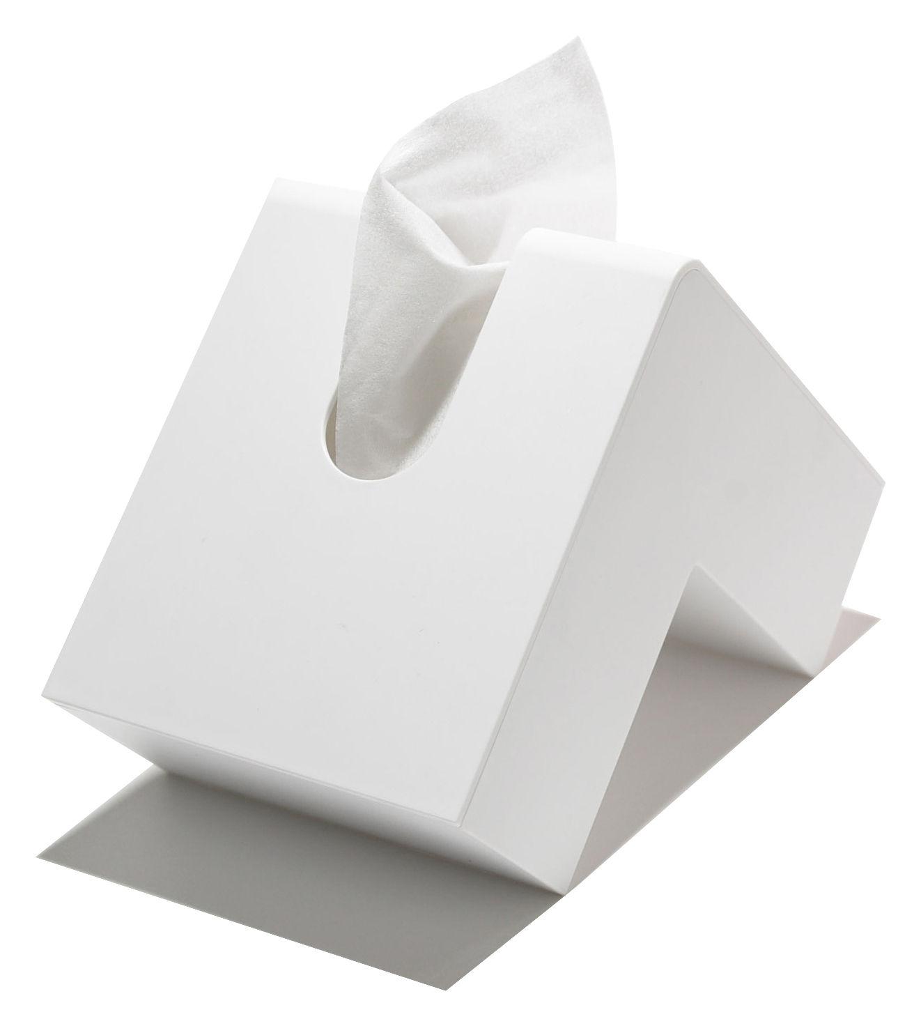 Dekoration - Badezimmer - Folio Taschentuch-Behälter - Pa Design - Weiß - Plastik