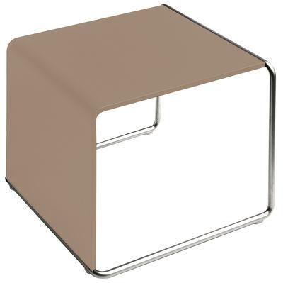 Image of Tavolino d'appoggio Ueno di Lapalma - Bianco/Legno naturale - Legno