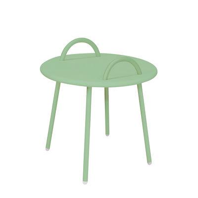 Arredamento - Tavolini  - Tavolino Swim Lounge - / 2 maniglie - Ø 51 x H 48,5 cm di Bibelo - Verde Cielo Veneziano - Acciaio laccato epossidico