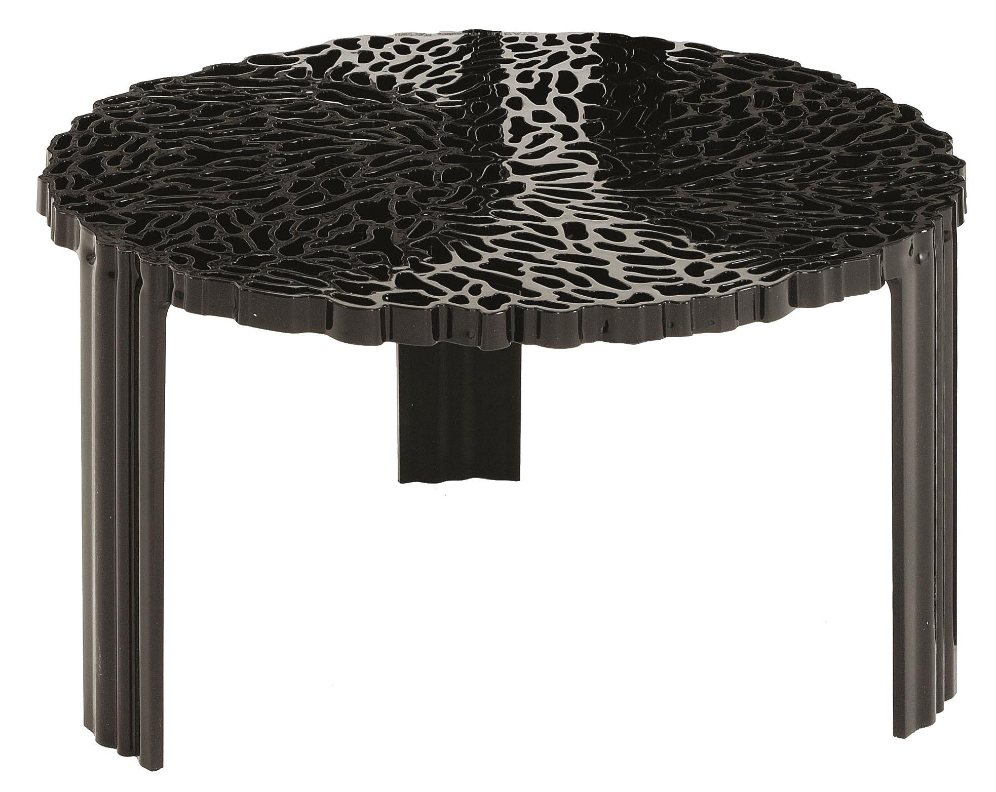 Arredamento - Tavolini  - Tavolino T-Table Basso di Kartell - Nero opaco - PMMA