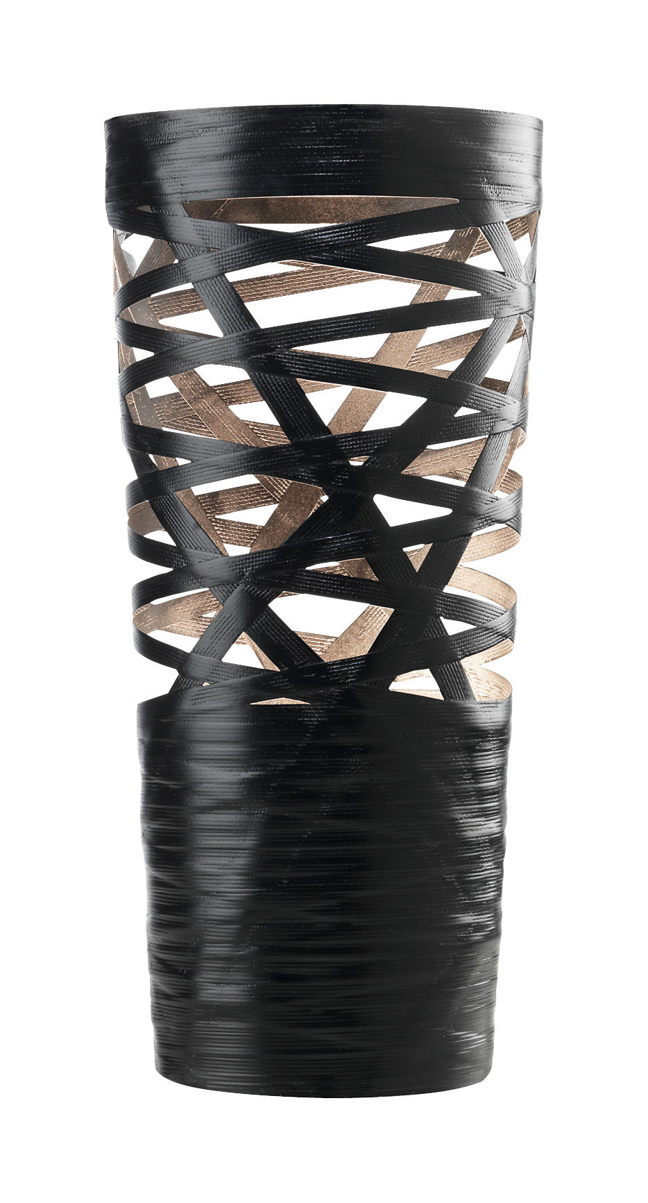 Leuchten - Tischleuchten - Tress Mini Tischleuchte H 43 cm - Foscarini - Schwarz - Glasfaser, Verbund-Werkstoffe