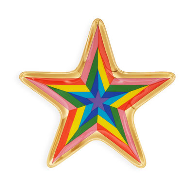 Tableware - Trays - Technicolor Star Trinket Tray - / Trinket tray - Porcelain & gold by Jonathan Adler - Technicolor Star / Multicoloured - China, Gold