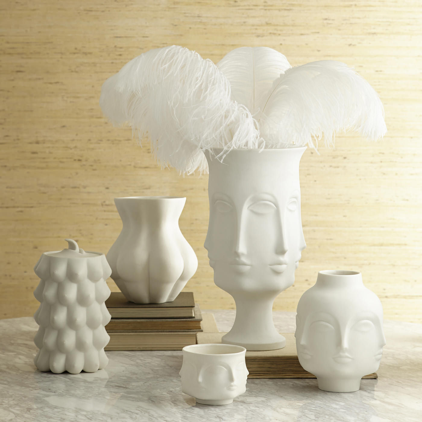 Groovy Dora Maar Vase White / Dora Maar by Jonathan Adler | Made In Design UK RM-12