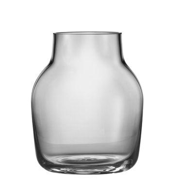 Vase Silent / Ø 11 cm - Muuto gris transparent en verre