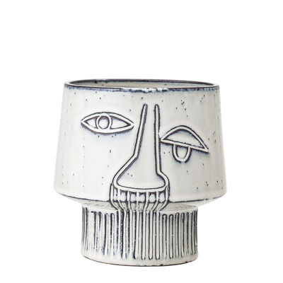 Interni - Vasi e Piante - Vaso per fiori - / Ceramica - Ø 15 x H 14 cm di Bloomingville - Grigio - Gres porcellanato vetrificato