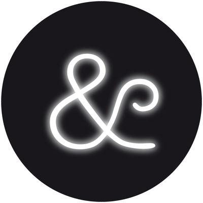 Applique avec prise Neon Art / Symbole & - Seletti blanc en verre