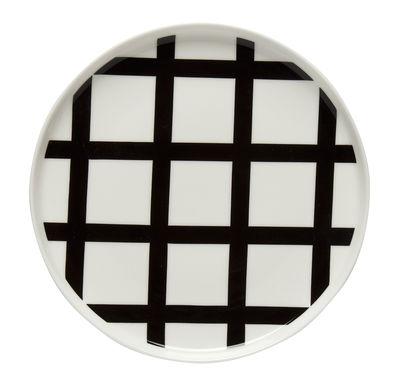 Arts de la table - Assiettes - Assiette à dessert Spaljé / Ø 20 cm - Marimekko - Spaljé / Noir & blanc - Grès