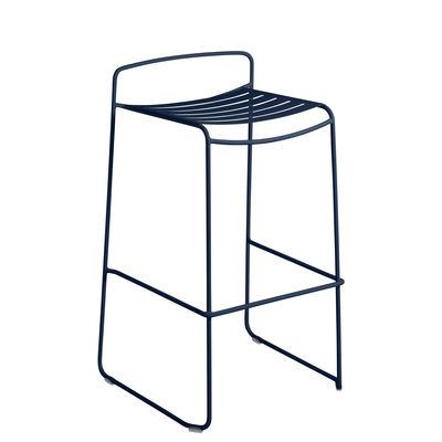 Möbel - Barhocker - Surprising Barhocker / Metall - H 78 cm - Fermob - Tiefseeblau - bemalter Stahl