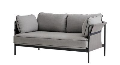 Canapé droit Can 2 places L 172 cm Hay gris,noir en métal