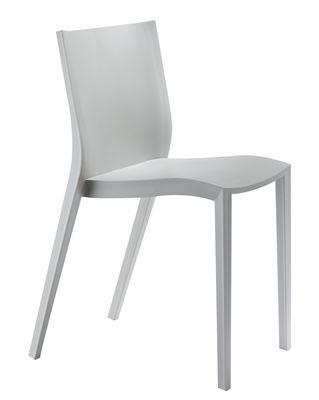 Mobilier - Chaises, fauteuils de salle à manger - Chaise empilable Slick slick by Philippe Starck - XO - Gris - Polypropylène