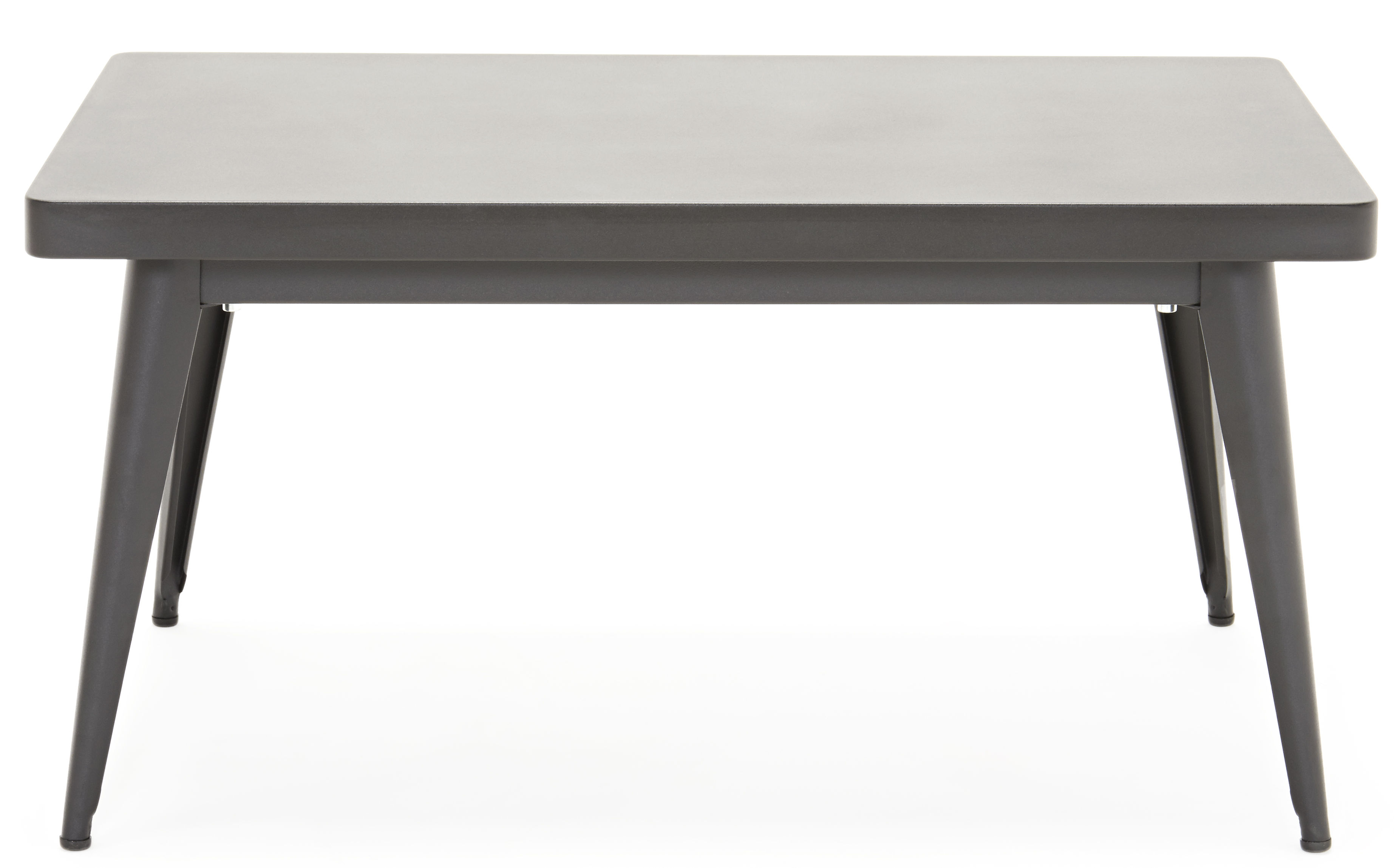 Furniture - Coffee Tables - 55 Coffee table by Tolix - Black - Lacquered recycled steel