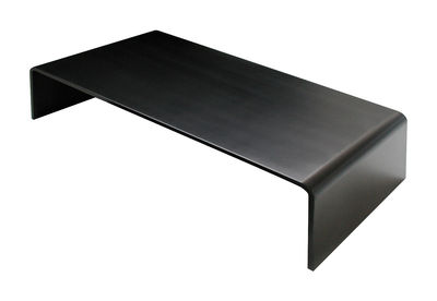 Furniture - Coffee Tables - Solitaire Basso Coffee table - 130 x 65 x H 32 cm by Zeus - 130 x 65 cm - Black - Phosphated steel