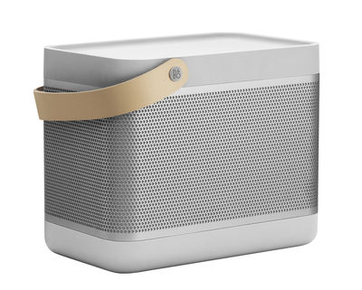 Enceinte Bluetooth Beolit 17 Portable Sans fil B O PLAY by Bang Olufsen gris cuir naturel en métal