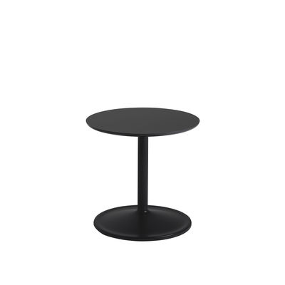 Furniture - Coffee Tables - Soft End table - / Ø 41 x H 40 cm - Laminate by Muuto - Black - MDF, Painted aluminium, Stratified
