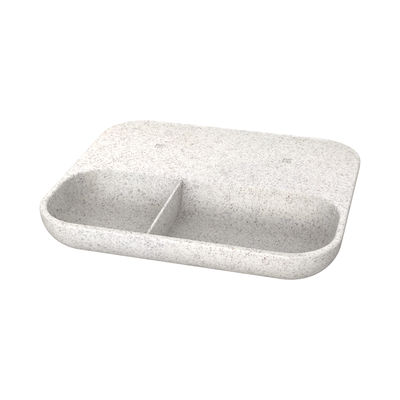 Accessories - High Tech Accessories - wiTRAY CARE induction charger - / QI - Tray 21 x 18 cm by Kreafunk - Speckled grey - Plastic, Wheat straw fibre