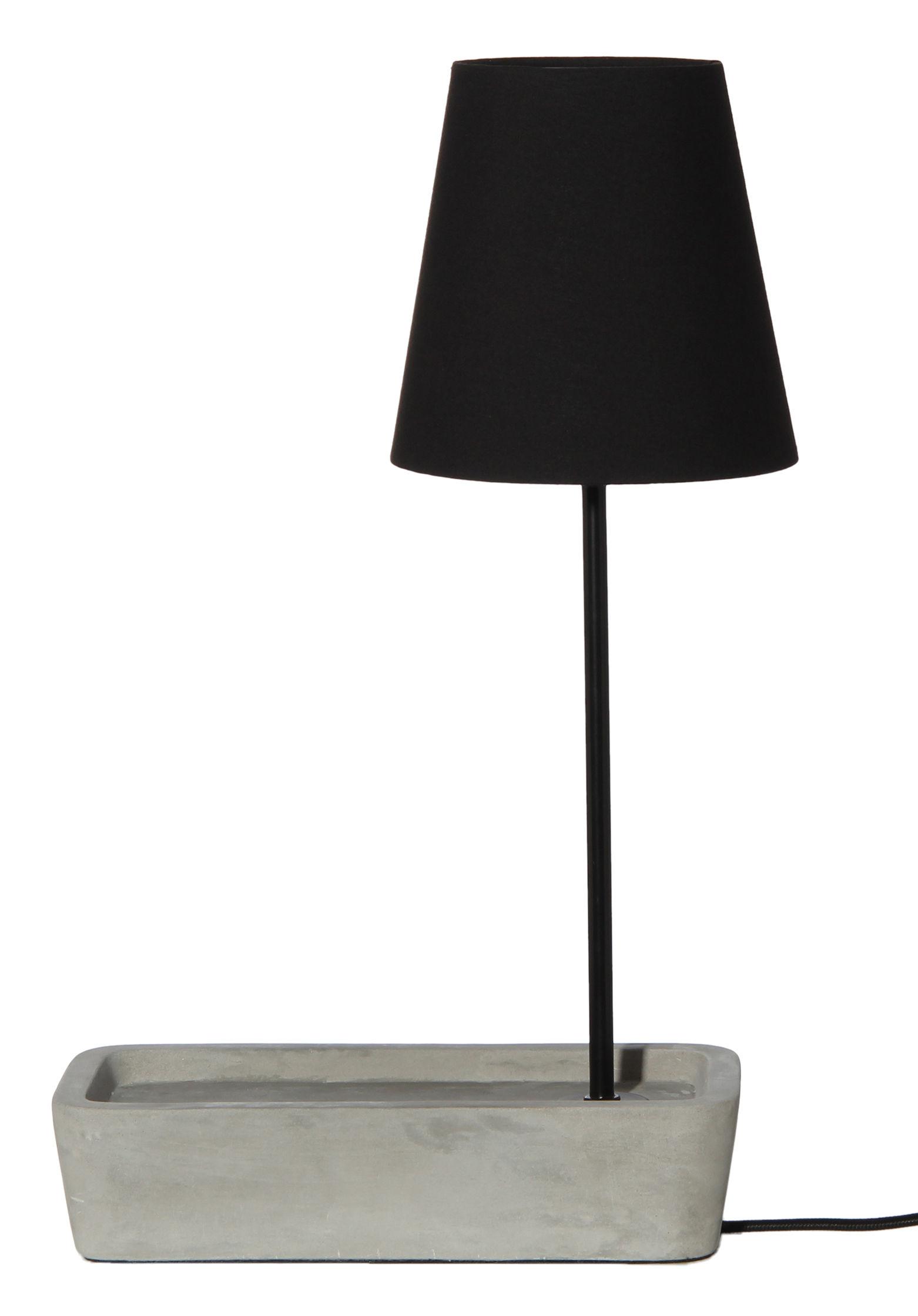 Base lampada da tavolo cemento cemento grigio nero by frandsen made in design - Base lampada da tavolo ...