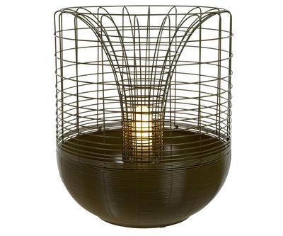 Illuminazione - Lampade da tavolo - Lampada Gloriette - per l'esterno / Vaso da fiori - H 60 cm di Forestier - Verde - Alluminio, Fil di ferro