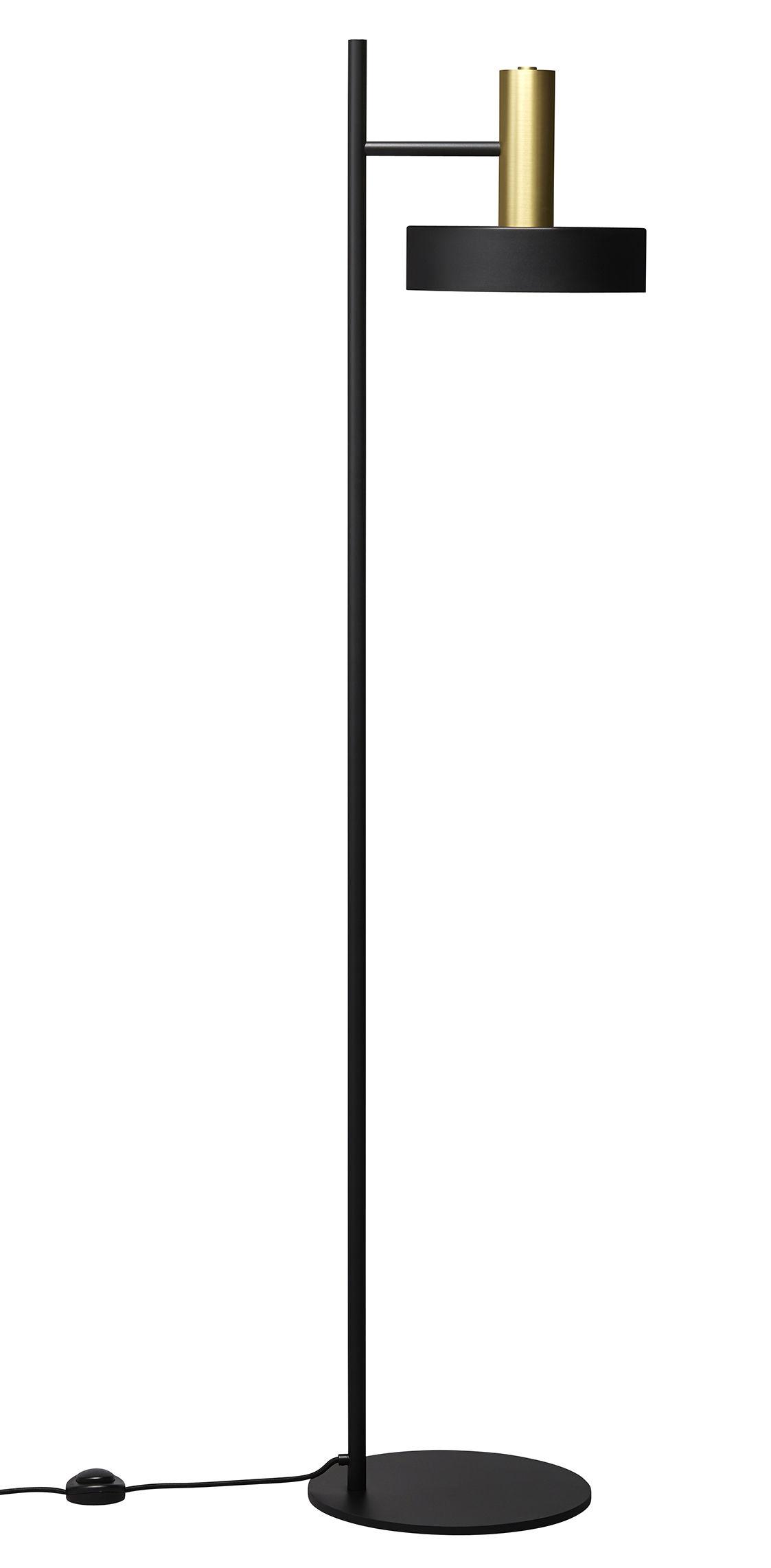 Luminaire - Lampadaires - Lampadaire SL01 / H 153,5 cm - Laiton & acier - Rewired - Laiton & noir - Acier laqué époxy, Laiton