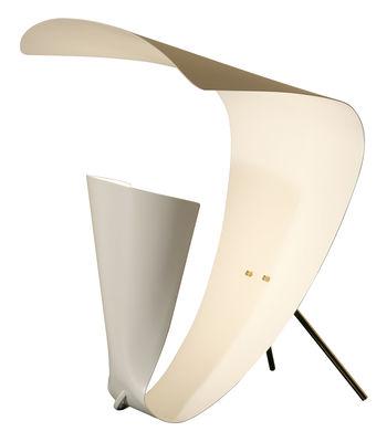 Lampe de table B201 / 1953 - Michel Buffet blanc en métal